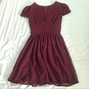 TOBI burgundy skater dress, size S